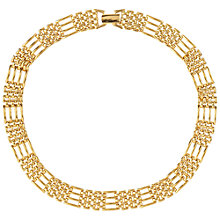 Buy Susan Caplan Vintage 1980s Napier Watchband Necklace, Gold Online at johnlewis.com