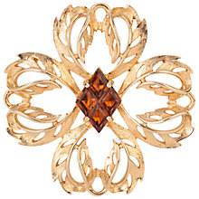 Buy Susan Caplan Vintage 1960s Sarah Coventry Topaz Brooch, Gold Online at johnlewis.com