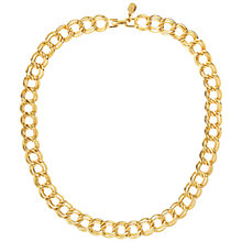 Buy Susan Caplan Vintage 1980s Napier Double Link Necklace, Gold Online at johnlewis.com