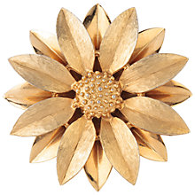 Buy Susan Caplan Vintage 1970s Sarah Coventry Daisy Brooch, Gold Online at johnlewis.com