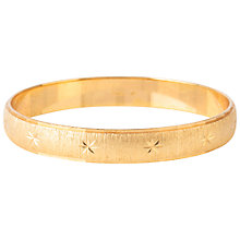 Buy Susan Caplan Vintage 1970s Monet Starry Bangle, Gold Online at johnlewis.com