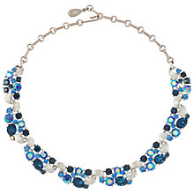 Buy Susan Caplan Vintage 1950s Lisner Crystal Necklace, Silver / Blue Online at johnlewis.com