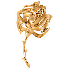 Buy Susan Caplan Vintage 1960s Trifari Rose Brooch, Gold Online at johnlewis.com