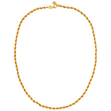 Buy Susan Caplan Vintage 1980s Napier Snake Necklace, Gold Online at johnlewis.com