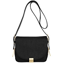 Buy Ted Baker Mazeful Large Leather Across Body Bag, Black Online at johnlewis.com