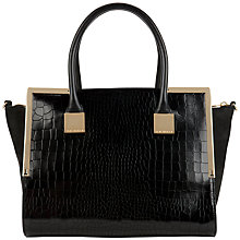 Buy Ted Baker Ferne Leather Tote Bag, Black Online at johnlewis.com