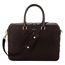 Buy Aspinal of London Leather Small Mount Street Tech Briefcase Online at johnlewis.com