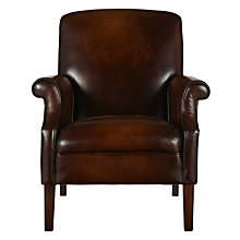 Buy John Lewis Clifton Semi-Aniline Leather Armchair, Hand Antiqued Online at johnlewis.com