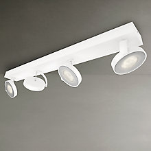 Buy Philips myLiving Clockwork LED 4 Spotlights, Silver Online at johnlewis.com