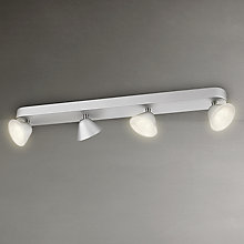 Buy Philips InStyle Tweed 4 LED Spotlights, Silver Online at johnlewis.com