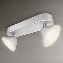 Buy Philips myLiving Tweed LED 2 Spotlight, Silver Online at johnlewis.com