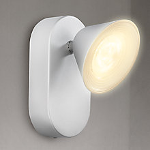 Buy Philips myLiving Tweed LED Wall Light, Silver Online at johnlewis.com