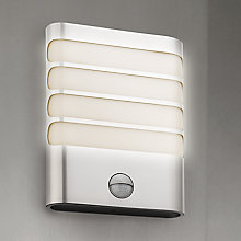 Buy Philips myGarden Raccoon LED Outdoor Wall Light, Stainless Steel Online at johnlewis.com