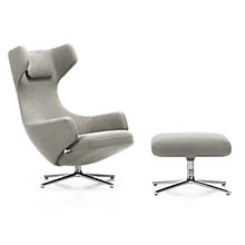 Buy Vitra Grand Repos Cosy Fabric Chair and Ottoman, Grey Online at johnlewis.com