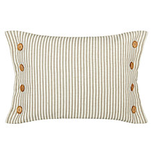 Buy John Lewis Sailor Stripe Cushion, Putty Online at johnlewis.com