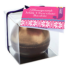 Buy James Milk Chocolate Honeycomb Bauble, 40g Online at johnlewis.com