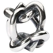 Buy Trollbeads Sterling Silver Heart 4 You Bead, Silver Online at johnlewis.com