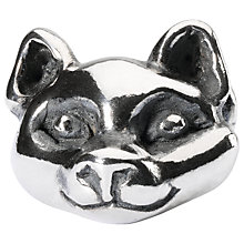 Buy Trollbead Sterling Silver Wilful Cat Charm, Silver Online at johnlewis.com