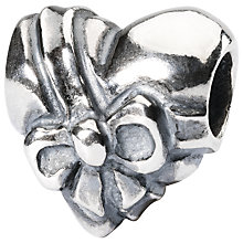 Buy Trollbeads Sterling Silver Heart Bow Bead, Silver Online at johnlewis.com