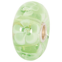 Buy Trollbeads Light Green Flower Glass Bead Online at johnlewis.com