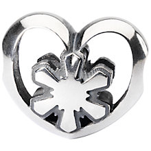 Buy Trollbeads Sterling Silver Crystal Heart Bead, Silver Online at johnlewis.com