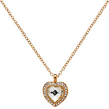 Buy Clare Jordan Gold Plated Crystal Heart-Shaped Necklace, Gold Online at johnlewis.com