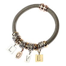Buy Adele Marie 3 Tone Plating 'Love' Bracelet, Multi Online at johnlewis.com