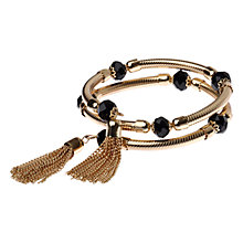 Buy Adele Marie Facet Bead Pipe Bracelet, Gold /  Black Online at johnlewis.com
