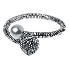 Buy Adele Marie Rhodium Mesh Glass Bracelet, Silver Online at johnlewis.com