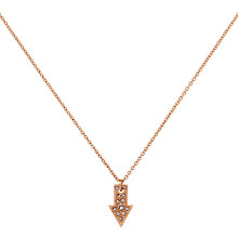 Buy Cachet London Rose Gold Plated Direction Pendant, Rose Gold Online at johnlewis.com