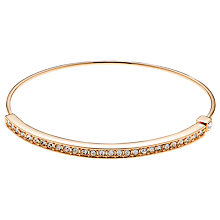 Buy Cachet London Diza Rose Gold Plated Swarovski Crystal Bangle, Rose Gold Online at johnlewis.com