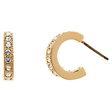 Buy Cachet London Gold Plated Small Hoop Crsytal Earrings, Gold Online at johnlewis.com