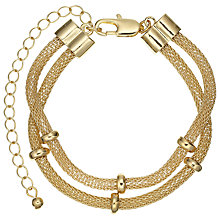 Buy John Lewis Double Row Mesh Bracelet, Gold Online at johnlewis.com