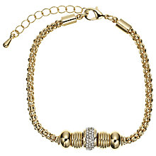 Buy John Lewis Diamante Charm Chain Bracelet, Gold Online at johnlewis.com
