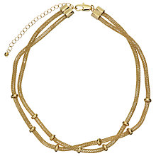 Buy John Lewis Double Layer Mesh Necklace, Gold Online at johnlewis.com