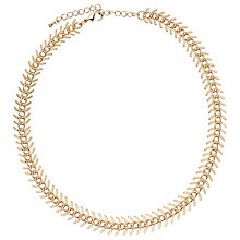 Buy John Lewis Large Leaf Necklace, Gold Online at johnlewis.com