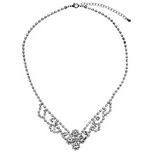 Buy John Lewis Crystal Necklace, Gunmetal Online at johnlewis.com