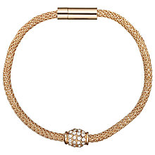 Buy John Lewis Fine Diamante Mesh Bracelet, Rose Gold Online at johnlewis.com