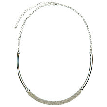 Buy John Lewis Effervescence Collar Necklace, Silver Online at johnlewis.com