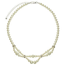 Buy John Lewis Fine Pearl Twist Czech Necklace, White Online at johnlewis.com