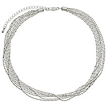 Buy John Lewis Layered Fine Chain Necklace, Silver Online at johnlewis.com