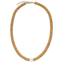 Buy John Lewis Plain Effervescence Crystal Necklace, Gold Online at johnlewis.com