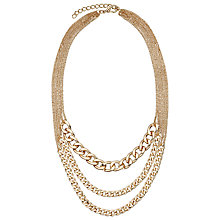 Buy John Lewis Layered Split Chain Necklace, Gold Online at johnlewis.com