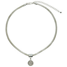 Buy John Lewis Paved Pendant Mesh Necklace, Silver Online at johnlewis.com