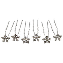Buy John Lewis Snowflake Hair Pins, Silver Online at johnlewis.com