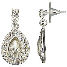 Buy John Lewis Tear Drop Czech Stone Earrings, Silver Online at johnlewis.com