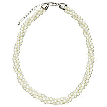 Buy John Lewis Twisted Faux Pearl Necklace, White Online at johnlewis.com