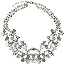 Buy John Lewis Short Multi Layered Necklace, Grey Online at johnlewis.com