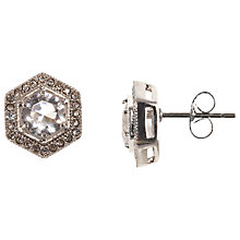 Buy John Lewis Hexagon Cut Czech Stone Stud Earrings, Silver Online at johnlewis.com