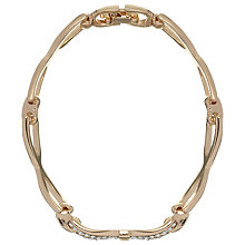 Buy John Lewis Diamante Bow Bracelet, Rose Gold Online at johnlewis.com